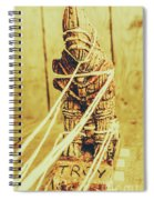Trojan Horse Wooden Toy Being Pulled By Ropes Spiral Notebook