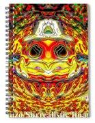 Bizzarre Pumpkin Head Spiral Notebook