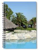 Tropic Bar Vacation Summer Scene Spiral Notebook