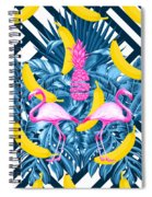 Tropical Banana Pink   Spiral Notebook
