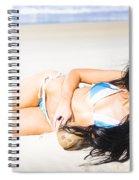 Tropical Beach Woman Spiral Notebook