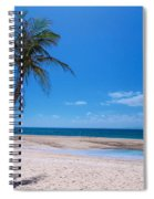 Tropical Blue Skies And White Sand Beaches Spiral Notebook