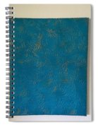 Tropical Palms Canvas Teal Blue - 16x20 Hand Painted Spiral Notebook