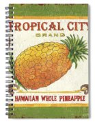 Tropical City Pineapple Spiral Notebook