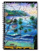 Tropical Cove  Fresco Triptych 2 Spiral Notebook