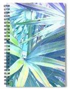 Tropical Dreams In Pastel Purple-blue Spiral Notebook