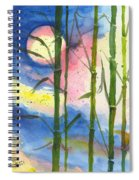 Tropical Moonlight And Bamboo Spiral Notebook