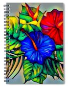 Tropical Neon Boutique  Spiral Notebook