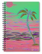Hot Pink Coconut Palm Spiral Notebook