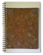 Tropical Palms Canvas Copper Silver Gold - 16x20 Hand Painted Spiral Notebook