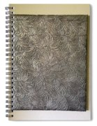 Tropical Palms Canvas Silver - 16x20 Hand Painted Spiral Notebook
