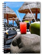 Tropical Paradise Sun, Sand, Beach And Drinks. Spiral Notebook