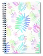 Tropical Pink Flamingos Spiral Notebook