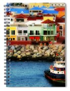 Tropical Port Spiral Notebook