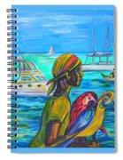 Tropical Scene Spiral Notebook