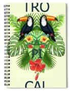 Tropical Summer  Spiral Notebook