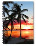 Tropical Sunset Spiral Notebook