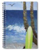 Tropical Surfboard Spiral Notebook
