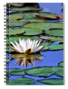 Tropical Water Lily Spiral Notebook