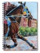 trotter standardbred Horse at the Little Brown Jug Spiral Notebook