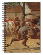 Trotting A Horse Spiral Notebook