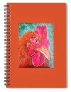 Troubles Portrait Chicken Art Spiral Notebook