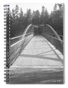 Trowbridge Falls Bridge Bw Spiral Notebook