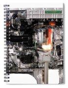 Truck Diesel Engine Isolated On White  Spiral Notebook
