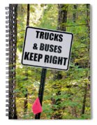 Trucks And Buses Keep Right Spiral Notebook