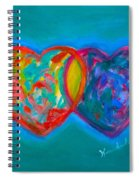 True Blue Hearts Spiral Notebook
