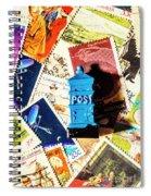 True Blue Postbox Spiral Notebook