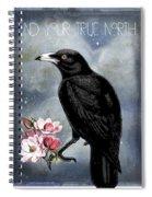 True North Crow And Magnolias Spiral Notebook
