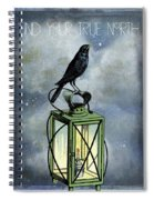 True North Crow Sits On The Night Lantern Spiral Notebook