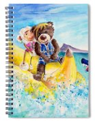 Truffle Mcfurry And Mary The Scottish Sheep Riding The Banana Spiral Notebook