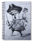 Trump, Short Fingers Pirate With Ryan, The Bird  Spiral Notebook