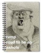 Trump The Imbecile Spiral Notebook