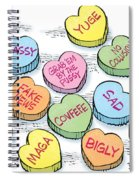 Trump Valentines Candy Uncensored Spiral Notebook
