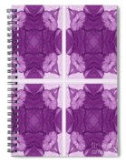 Trumpet Flowers In Abstract Spiral Notebook