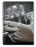 Trumpet Hands Spiral Notebook