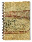 Trumpet In Grunge Style Spiral Notebook