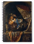 Trumpet Player In Front Of A Banquet 1665 Spiral Notebook
