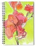 Trumpet Vine Blossom Spiral Notebook