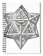 Truncated And Elevated Hexahedron With Open Faces Spiral Notebook