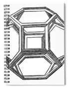 Truncated Octahedron With Open Faces Spiral Notebook