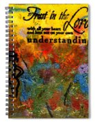 Trust In The Lord Spiral Notebook
