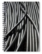 Tubular Abstract Art Number 13 Spiral Notebook