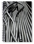 Tubular Abstract Art Number 15 Spiral Notebook