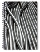 Tubular Abstract Art Number 3 Spiral Notebook