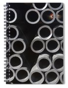 Tubular Abstract Art Number 9 Spiral Notebook
