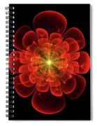 Tudor Rose - Abstract Spiral Notebook